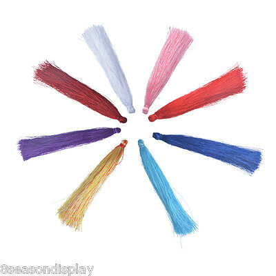 "20PCs 9cm Polyester Tassel Silk Satin Tassels Suitable for curtains (3 4/8"")"