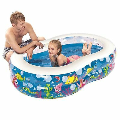 Jilong Childrens Ocean Life Figure 8 Inflatable Paddling Pool