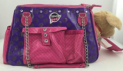 Totally My Pet Pink & Purple Small Dog or Cat Carrier