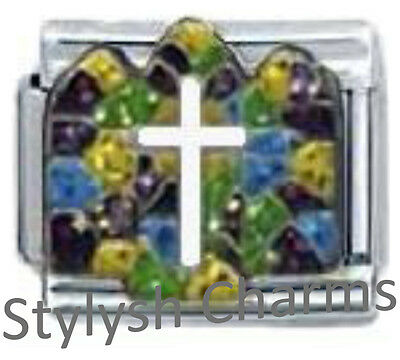 CHURCH STAINED GLASS WINDOW RELIGIOUS Enamel Italian Charm 9mm - 1x RE047 Link