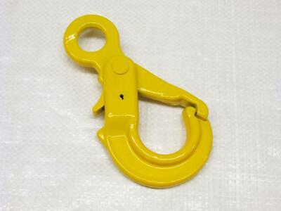 10MM G80 Eye Type Autolock Hook - Grade 80 3.15 Ton Chain Sling Self Locking