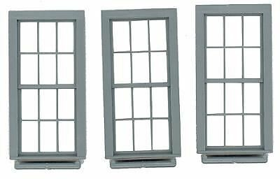 """Grandt Line O Scale Double Hung Window 6 Over 6 Scale 38 X 86""""(3) 