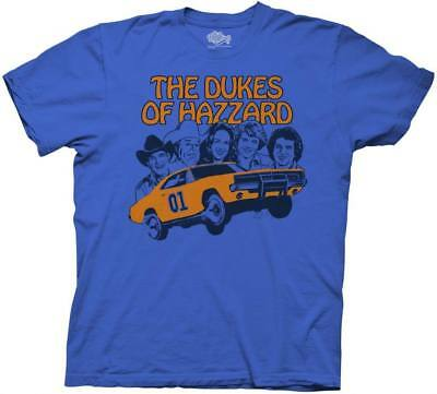 Child Youth Royal Blue TV Show Dukes of Hazzard Retro Illustration T-Shirt Tee