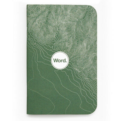 "Pack of 3 Word Notebooks, Pocket Size, 3.5"" x 5.5"", Green Terrain"