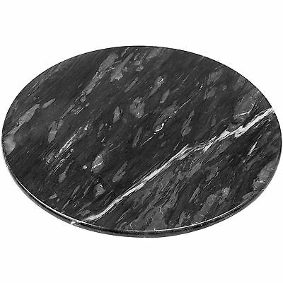 New Lazy Susan Round Black Marble Rotating Cheese Serving Turn Table Tray Plate