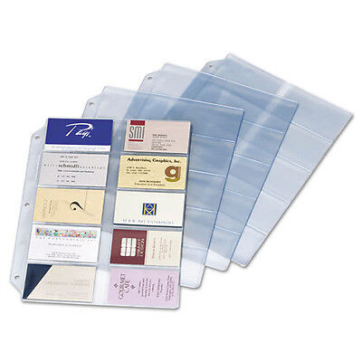 Pack of 10 Cardinal Vinyl Business Card Refill Page CRD7856000 for 3 ring binder