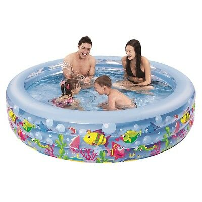 Jilong Aquarium Pool 185 - large children´s pool with fun sea animals print, for