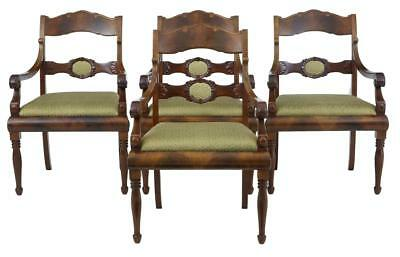 Set Of 4 Early 20Th Century Flame Mahogany Armchairs