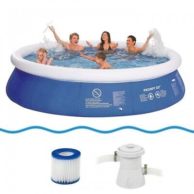 Jilong Marin Blue 360 Set - quick-up pool set with filter pump, 360x76cm