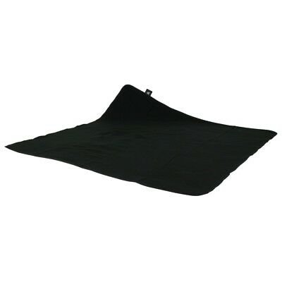 10T Picnic 135 - Picnic blanket, beach blanket, flannel, black with handy carry