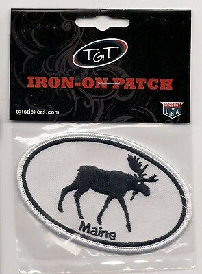 Souvenir Patch - State Of Maine - Moose Patch