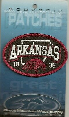 Embroidered Souvenir Patch State Of Arkansas