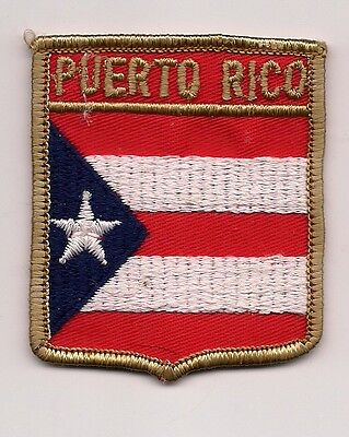 Souvenir Flag Patch - State Of Puerto Rico