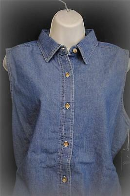 SIGMA MEDIUM Reg Sleeveless Denim Shirt  Womens Ladies High Quality 300 Country