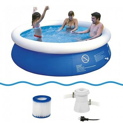 Jilong Prompt Set Pool Marin Blue 240 Set - quick-up pool set with filter pump,