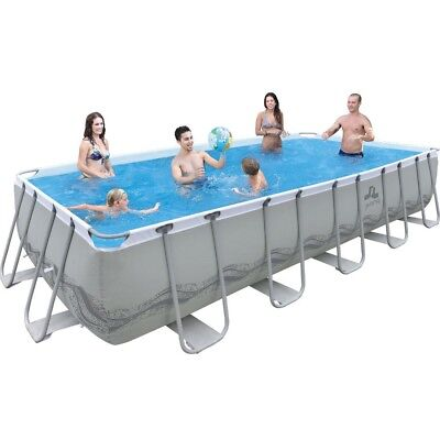 Jilong Passaat Grey 540 Set - steel frame paddling pool, rectangular pool, 540x2