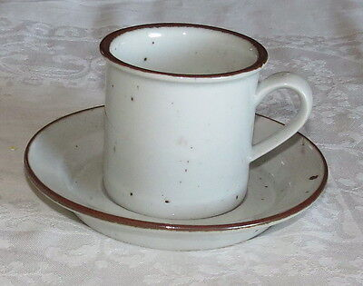 Dansk Brown Mist tall Cup & Saucer - made in Denmark