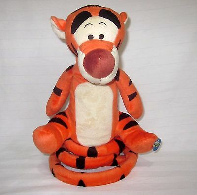 Disney Tigger Singing And Bouncing Tail Plush Winnie The Pooh Animated Soft Toy