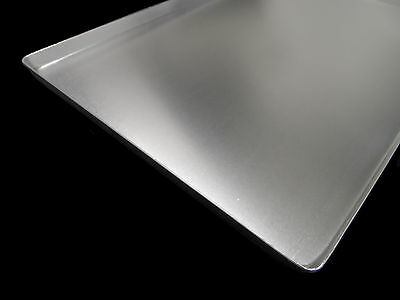 10x COUNTER SHEET SILVER 60x40x2cm ALUMINUM NEW DISPLAY TRAYS METAL ALUBLECHE