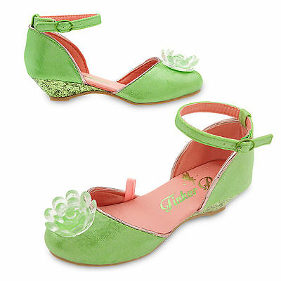 Disney Store Tinkerbell Fairy Costume Shoes Girls Dress Up Size 7/8 9/10 NEW