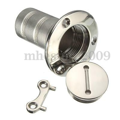 1.5'' Boat Marine Deck Fill Filler Keyless Cap Gas Fuel Tank 316 Stainless Steel
