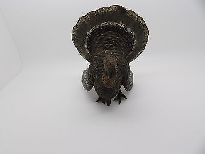 Rare Franz Bergman Signed  Cold Painted Bronze  Turkey Celeb Antiques Rd Trip