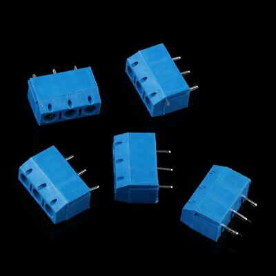 50 pcs KF301-3P 3 Pin Screw blue PCB Terminal Block Connector 5mm Pitch