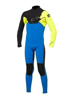 QUIKSILVER CYPHER HYDROLOCK 3/2 Wetsuit Chest Zip junior size 16 new NWT