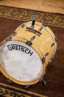 GRETSCH DRUMS Broadkaster Bass Drum 18x14 (Vintage Build) Antique Pearl