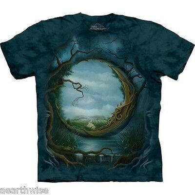 THE MOUNTAIN - NIGHT & DAY T-SHIRT - ADULT MEDIUM -  Wicca Pagan Witch Goth
