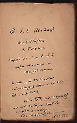 1931 Inscribed French Ambassador in Russia Red Revolution Soviet Anatole Monzie