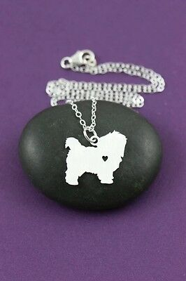 Maltese terrier dog  pendant necklace dog collectible