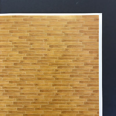 Wooden Floor Print Sheet 07 - Model Building Scenery Dolls House Self Adhesive