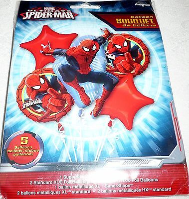 Anagram Marvel Ultimate SPIDER-MAN Foil Balloon Bouquet Includes 5 Balloons