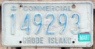 Rhode Island 1990 - 1998 COMMERCIAL TRUCK License Plate 149293!
