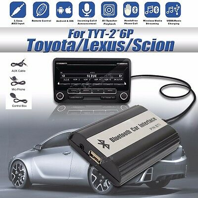 1set Car Bluetooth Kits Hands-free Stereo AUX Adapter Interface for Toyota 2*6 #