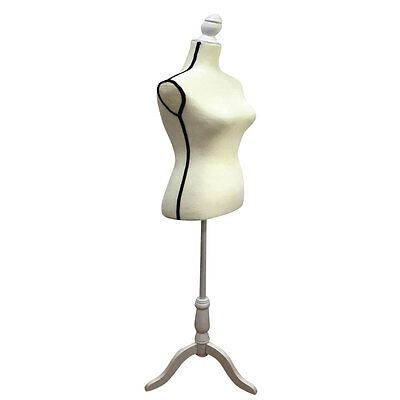 New Female Mannequin Torso Clothing Display W/ White Tripod Stand