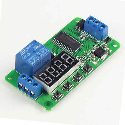 DC 12V 1 Channel Delay Time Relay Module LED Display Timer Switch
