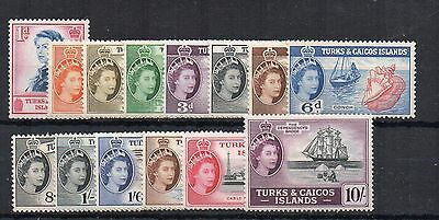 Turks and Caicos Islands 1957 set to 10s MLH