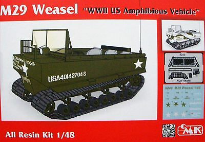 "CMK 8049  M29 Weasel ""WWII US Amphibious Vehicle"" Resin Kit in 1:48"
