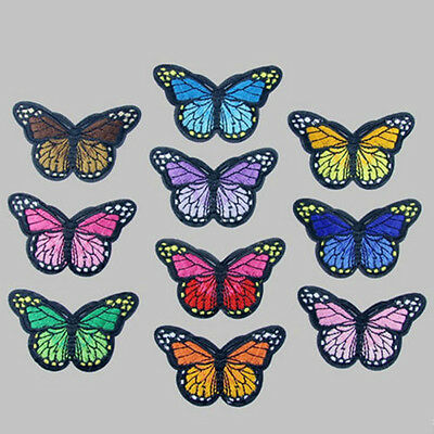 10 Fashion Cute Butterfly Sew On Patch Badge Embroidered Fabric Applique DIY Hot