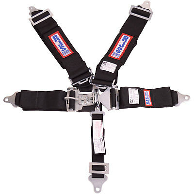 R.J.S. Safety Equipment 1127801 5-Point Latch and Link Racing Harness Black