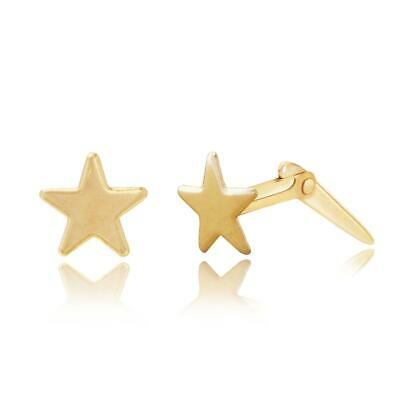9ct yellow gold Andralok star studs / stud earrings / gift box