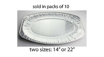Strong Oval Aluminium Trays Disposable Catering Serving Foil Platters BBQ Party