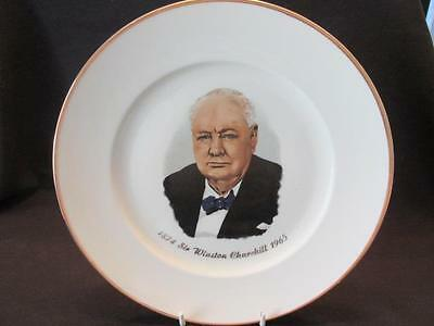 """Sir Winston Churchill Vintage Gold Edged 10"""" Plate Made in Western Germany"""