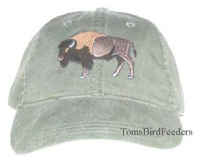 Bison Buffalo Embroidered Cotton Cap NEW