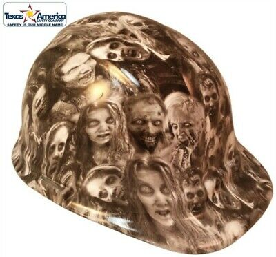 NEW!! Hydro Dipped Cap Style Hard Hat with Ratchet Suspension- Real Zombie Print