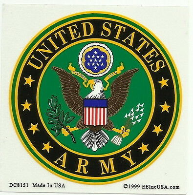 US Army Logo Decal Window / Bumper Sticker Made in the U.S.A.