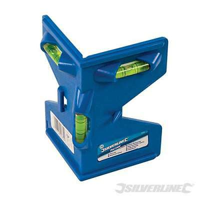 Silverline Magnetic Post Level - Professional Quality Fence Post Leveller SL05