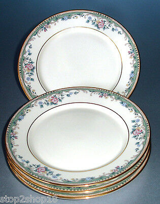 "Lenox SPRING VISTA (SET/4) Bread & Butter Great Tidbit/Party Plates 6.5"" New"